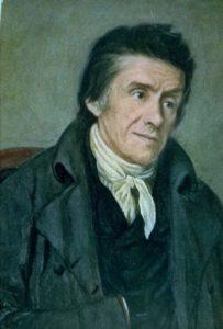 Das Gemälde zeigt Johann Heinrich Pestalozzi.