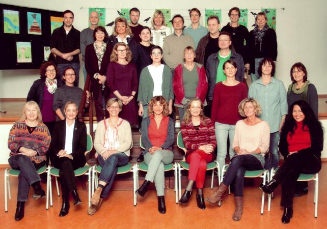 Ein Foto vom Kollegium der Pestalozzi-Schule aus dem Jahr 2016