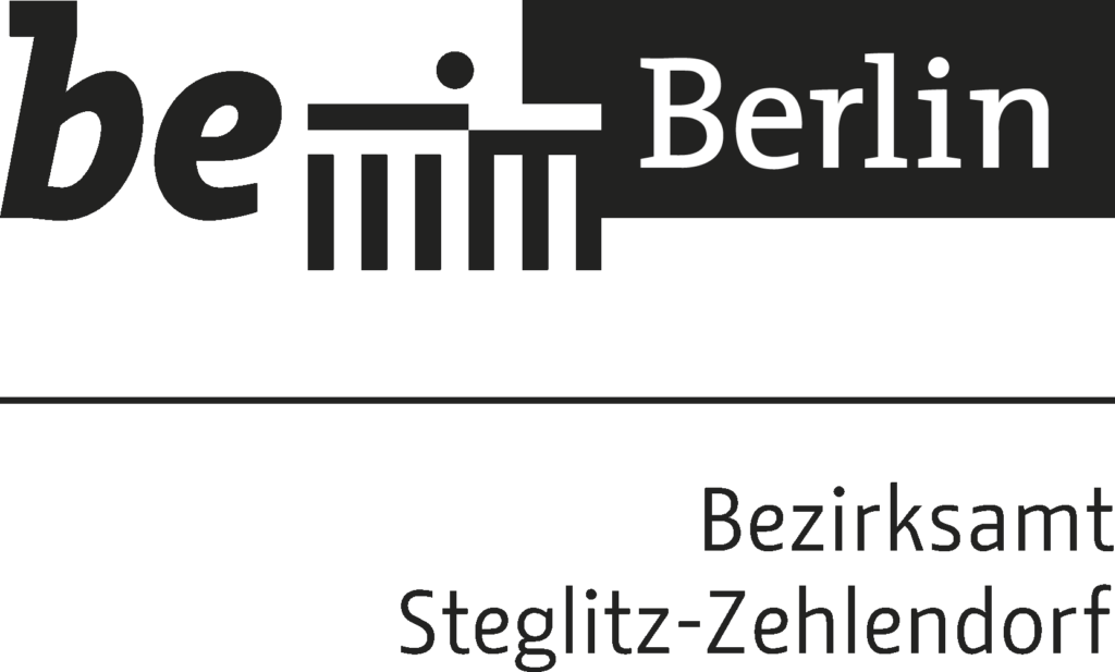 Logo des Bezirksamts Steglitz-Zehlendorf von Berlin (schwarz-weiß)